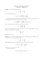 ECON 310 2014 Assignment 5 Solutions