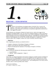 Case Study CTTS - Milestone 1 Scope Definition