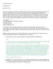 Contracts Law 616, Assignment #7.docx