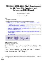 Staff Development for ABE and ESL Teachers and Volunteers. ERIC Digest..pdf