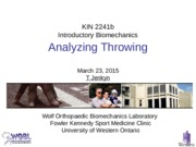 Lecture 24 Analyzing Throwing 230315