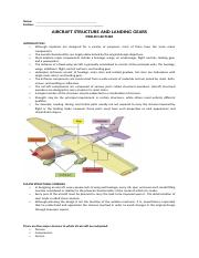 AIRCRAFT STRUCTURE and LANDING GEARS-PRELIM LECTURE