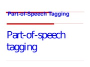 Ch4 Part-of-Speech Tagging