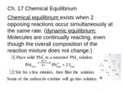 Chemistry - Chapter 17