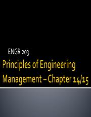 ENGR 203 Chapter 14-15 2015