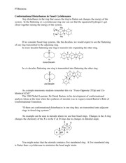 CHEM 521 Lecture Notes #2, conformational disturbances in fused cyclohexanes
