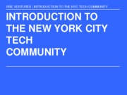 Introduction to NYC community (Presentation)