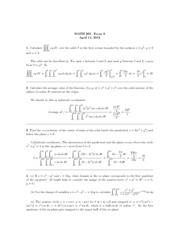 UPenn MATH 260 2013 Midterm 3 with Solutions