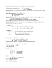 math 3001 tests of convergence rules