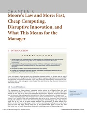 Chapter 5 Moore's Law and More Fast, Cheap Computing, Disruptive Innovation, and What This Means for