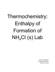 Thermochemistry_ Enthalpy of Formation of NH4Cl (s) Lab.pdf