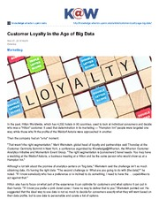 knowledge.wharton.upenn.edu-Customer Loyalty in the Age of  Big Data