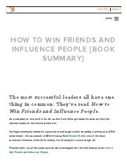 Summary_ How to Win Friends & Influence People(1)