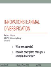 24_Innovations II_Animal diversification_after class update
