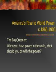 Rise to World Power