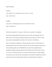 Citigroup final report - Essay