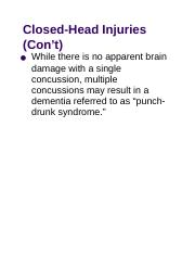 Closed-Head Injuries (Con't).docx
