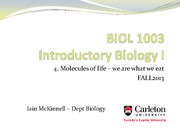 BIOL1003 -4_Molecules of life - Fall2013