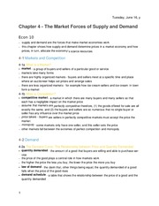 Principles of Economics -Chapter 4