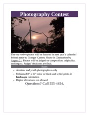 Lab 1-2 Photography Contest Flyer