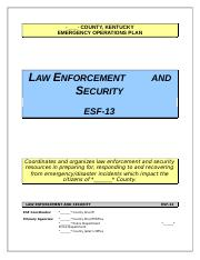 ESF 13 Law Enforcement and Security.doc