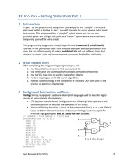 PA 5 - Verilog Simulation (EE 355 USC - Software Design for Electrical Engineers)