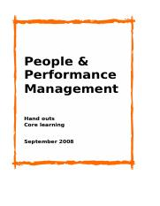 03 - Handouts - People  Performance Management