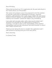 Cover Letter for FPT Software