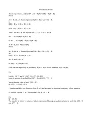 Probability Proofs