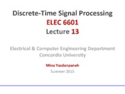 Lecture13 Filter Design Techniques for Digital Signal Processing