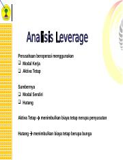 9 Analisa Leverage.ppt