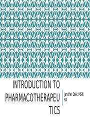 Introduction to Pharmacotherapeutics.pptx