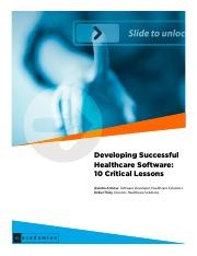 Lessons in clinical software development(1)