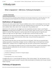 What is Apoptosis_ - Definition, Pathway & Examples - Video & Lesson Transcript _ Study.com.pdf