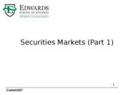 3 Trading on Securities Markets, Parts 1 and 2