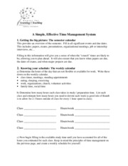 7 - A Simple Effective Time Management System