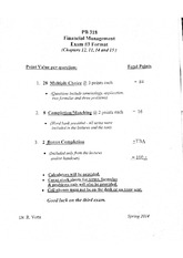 exam 3 format and review