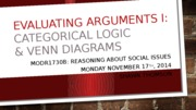 9. Evaluating arguments I_Categorical Syllogisms  Venn Diagrams