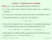 Lecture 6 Propensity score matching