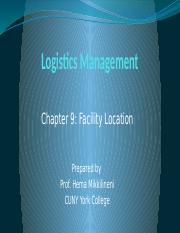 BUS 367 - Chapter 9 - Facility Location.pptx