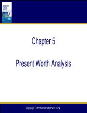 Chapter 05 Present Worth Analysis_12e