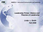 MGMT615 Leader Primer fall09