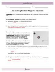 Student Exploration- Magnetic Induction (ANSWER KEY).docx ...