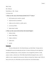 Chapter 8 Paragraph and Questions History
