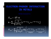 Lecture on Boltzmann equation for electron-phonon scattering