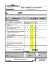 Form Penilaian Kinerja Karyawan Samora Xls Rahasia Hanya Untuk Yang Berkepentingan Formulir Penilaian Kinerja Karyawan Operator Staff Administrasi Course Hero