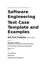 Software Engineering – Dr Ghazy Assassa Page 1 of 5.docx
