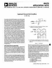SR - Applying IC Sample-Hold Amplifiers