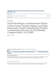Social Networking as a Communications Weapon to Harm Victims- Fac.pdf