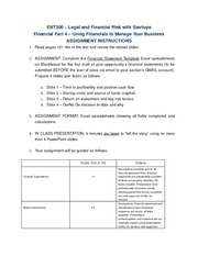 Financial Part 4 - Using Financials to Manage Your Business Assignment Instructions (1)